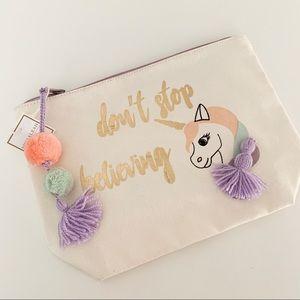 Shiraleah Unicorn Cosmetic Pouch Bag NWT